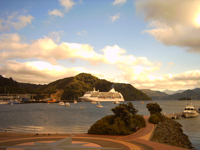 Harbour at Picton on Marlborough Sounds, New Zealand