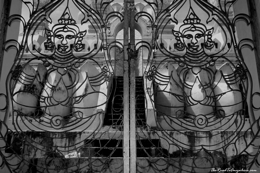 Gates at Pha That Luang in Vientiane, Laos