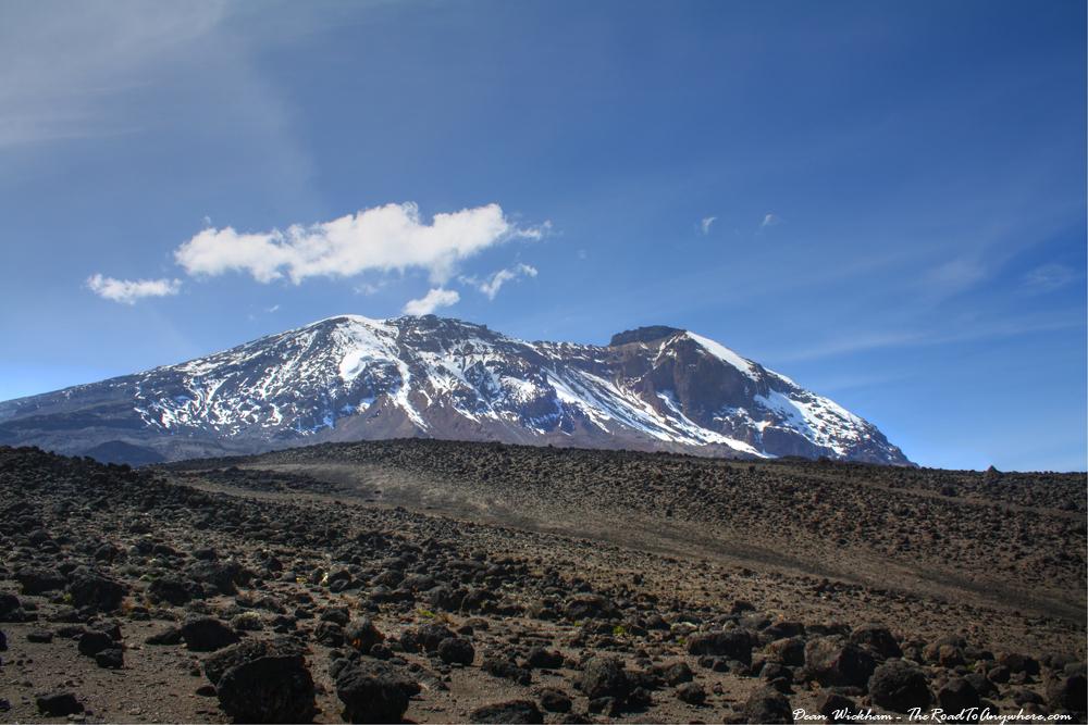 Snow Capped Mount Kilimanjaro from Shira Plateau, Tanzania