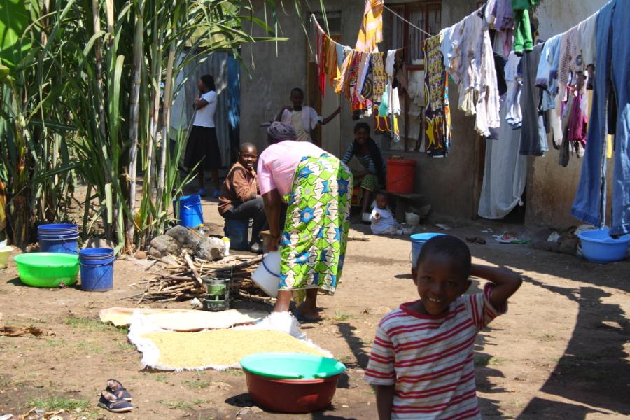 A boy poses for camera in Mto wa Mbu, Tanzania