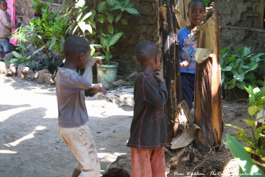 Kids playing in Mto wa Mbu, Tanzania