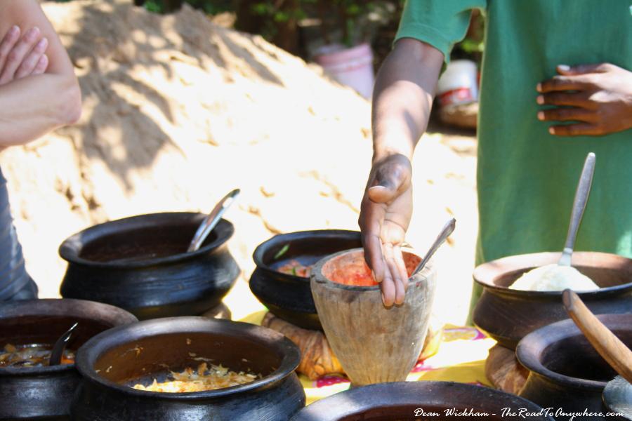 Local food in Mto wa Mbu, Tanzania