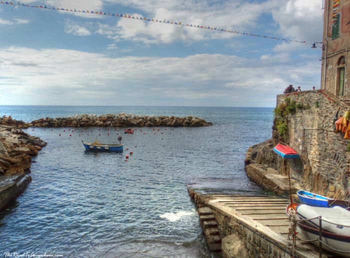Harbour in Riomaggiore in Cinque Terre, Italy