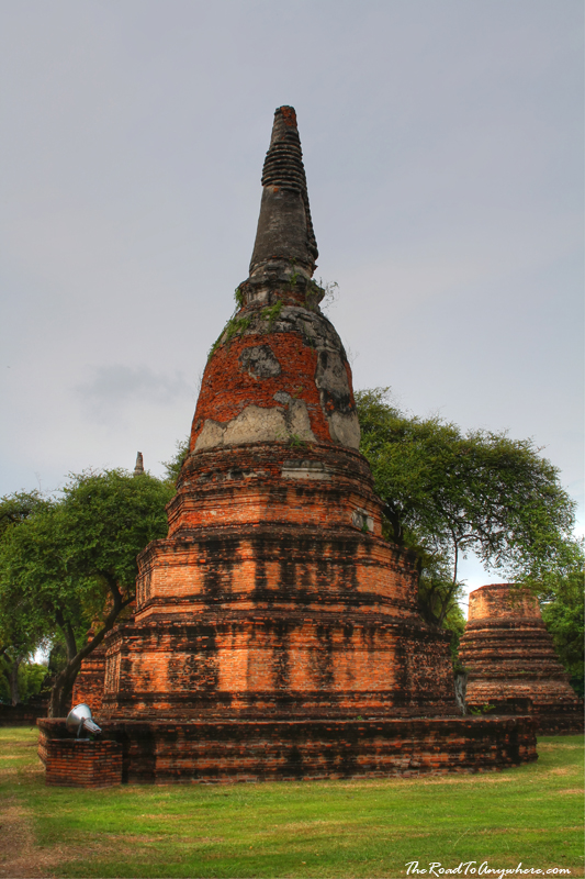 A chedi at Wat Phra Ram in Ayutthaya, Thailand