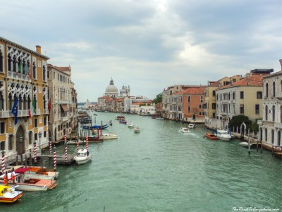 View of the Grand Canal from Ponto dell'Accademia in Venice, Italy
