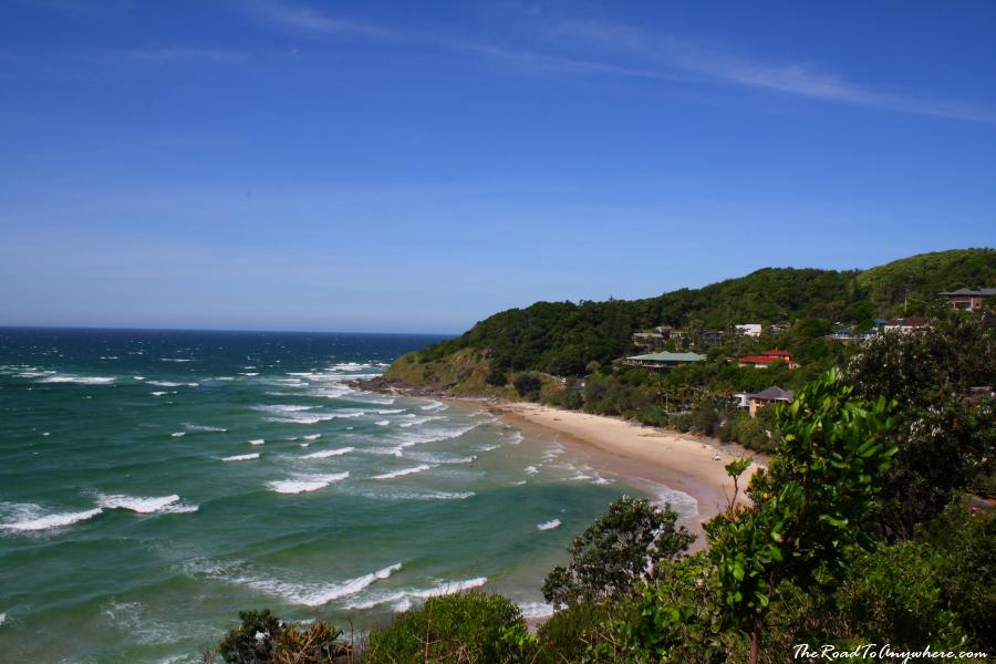 View of Watego's Beach in Bryron Bay, Australia