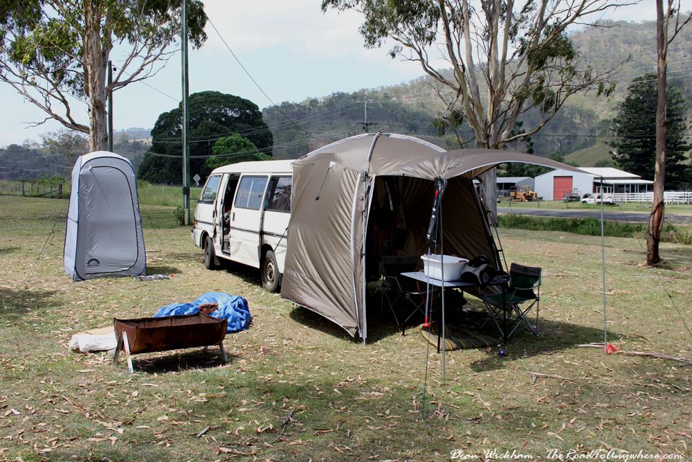 Camping at Darlington Park in Queensland, Australia