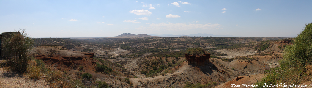 Panorama of Olduvai Gorge, Tanzania
