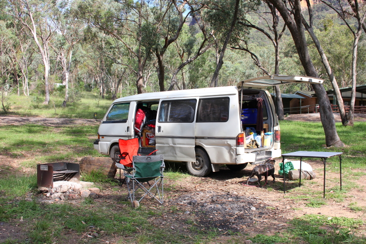 Camping at Glen Davis, Australia