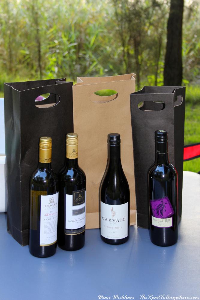 Bottles of wine from the Hunter Valley, Australia