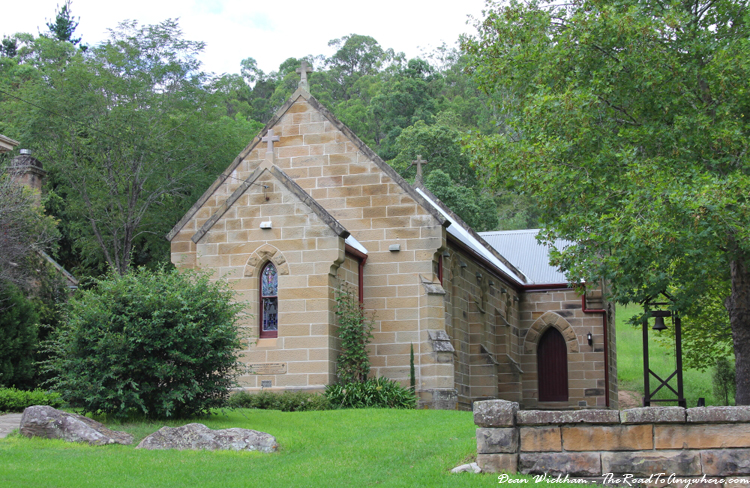 A church in Wollombi, Australia