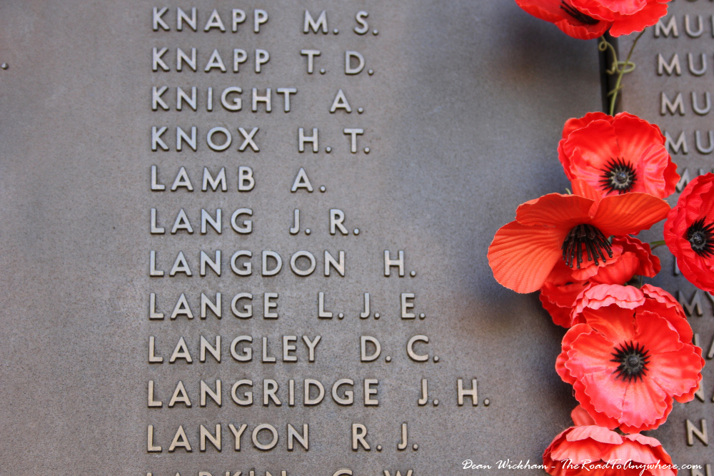 My Great Grandfather's name in the Hall of Memory at the Australian War Memorial, Canberra