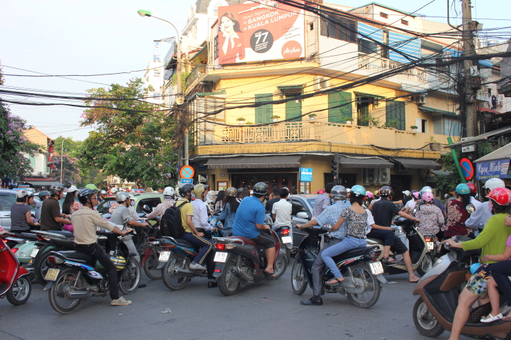 Wandering the streets of the Old Quarter in Hanoi, Vietnam