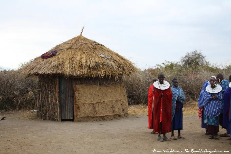 A mud hut in a Masai Village in Tanzania