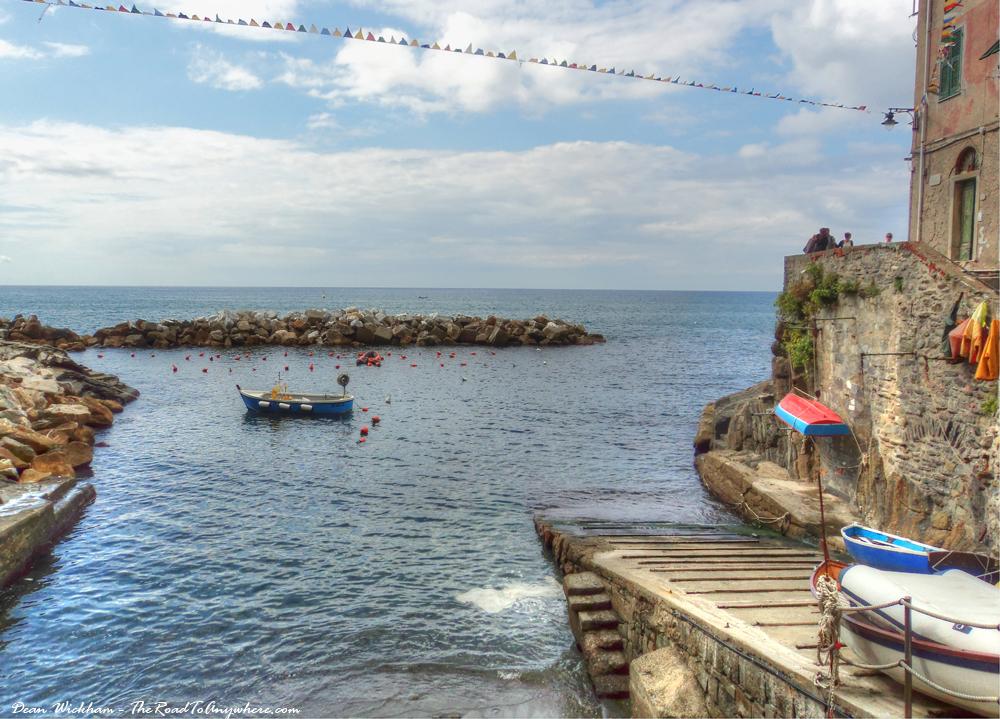 Harbour view in Riomaggiore, Italy