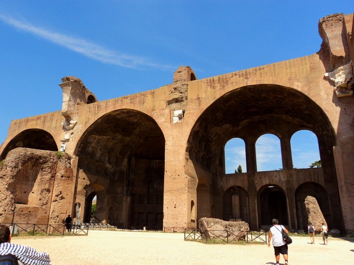 Basilica of Maxientis in Rome, Italy