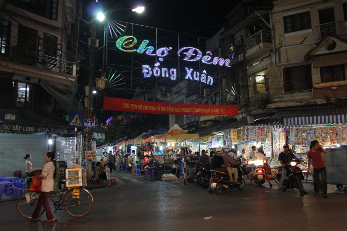 Dong Xuan Night Market in Hanoi, Vietnam