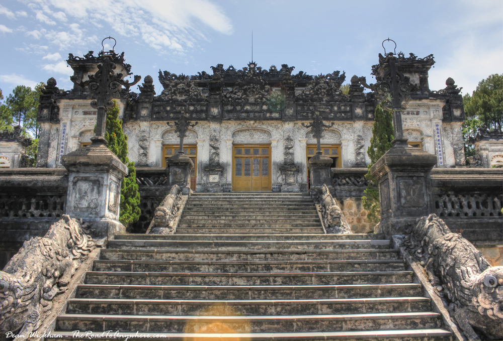 The Tomb of Emperor Khai Dinh in Hue, Vietnam
