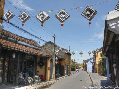 A typical street view in Hoi An, Vietnam