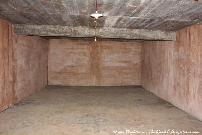 Empty room inside the hospital cave on Cat Ba Island, Vietnam