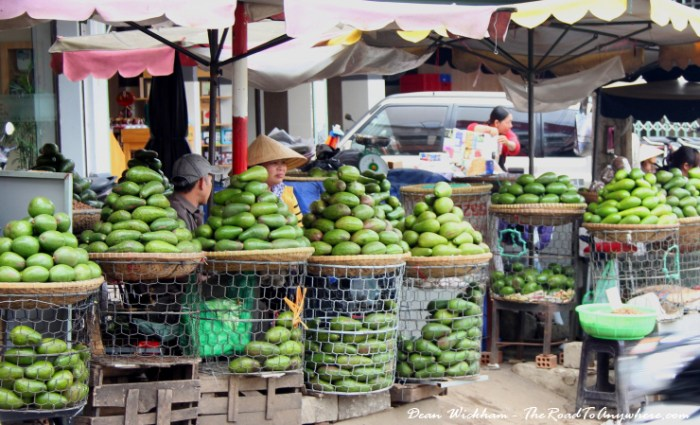 Fruit stall at the Central Market in Dalat, Vietnam