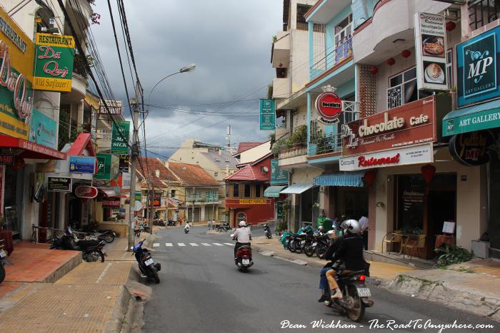 Trung Cong Dinh Street in Dalat, Vietnam