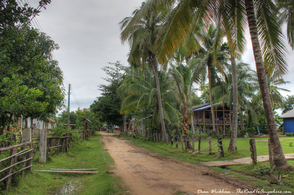 Quiet Street in Don Khone, Laos