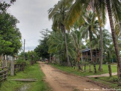 Quiet Street in Don Khone, Laos