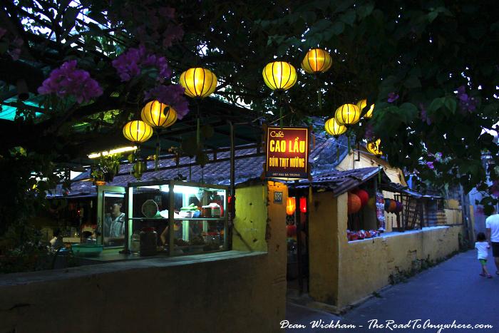Lanterns on a street in Hoi An, Vietnam