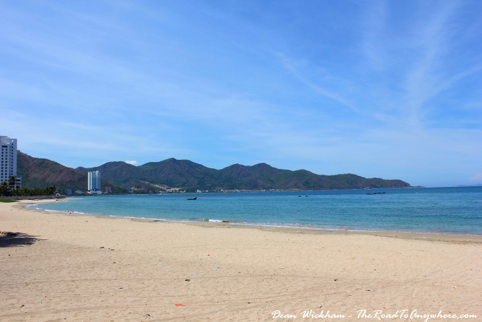 Empty beach in Nha Trang, Vietnam