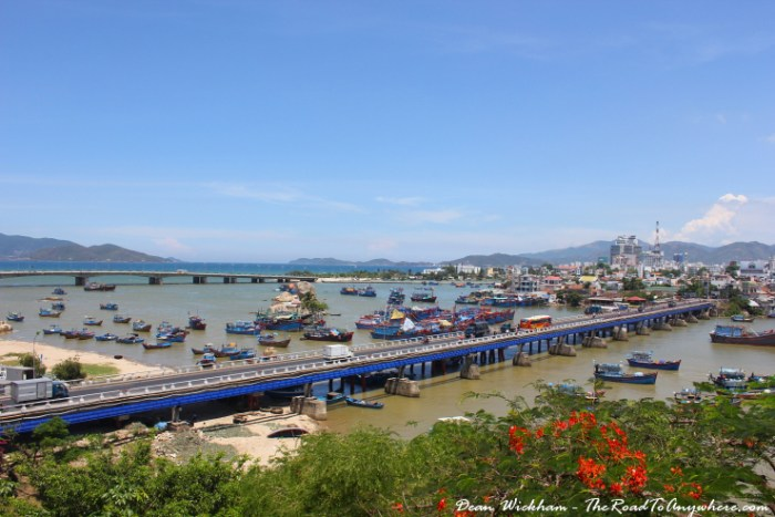 Harbour view from Po Nagar in Nha Trang, Vietnam
