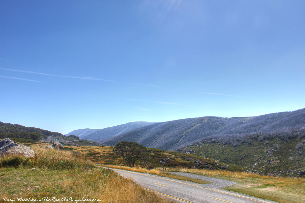 High Alpine Road in Falls Creek, Victoria, Australia