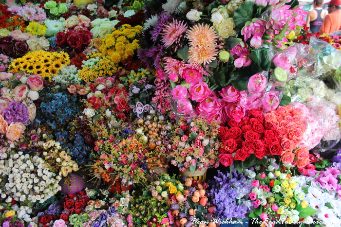 Flowers for sale at Ben Thanh Market in Saigon, Vietnam