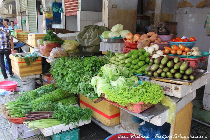 Fresh veges at Ben Thanh Market in Saigon, Vietnam