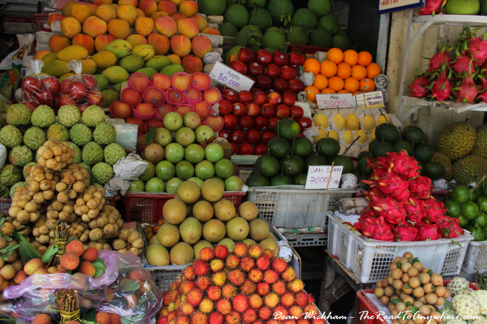 Fresh fruit at Ben Thanh Market in Saigon, Vietnam