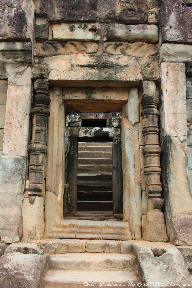 Ancient doorway at Bakong in Angkor, Cambodia