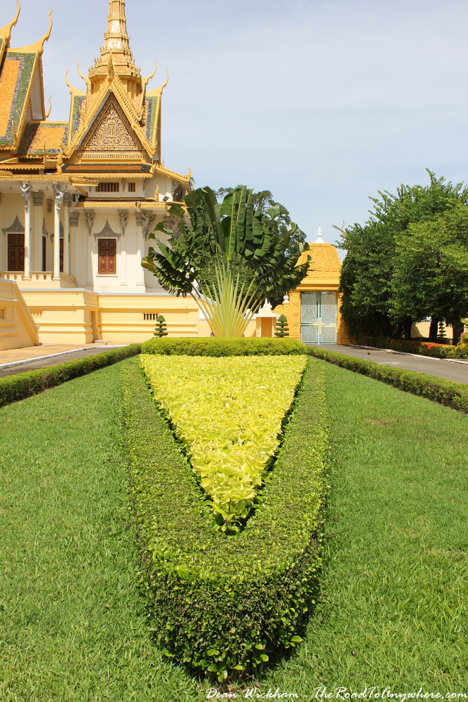 Gardens in the Royal Palace in Phnom Penh, Cambodia