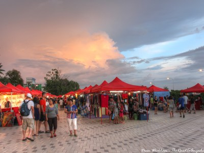 The Night Market in Vientiane, Laos