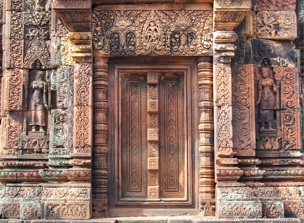 Sealed doorway in Banteay Srei in Angkor, Cambodia