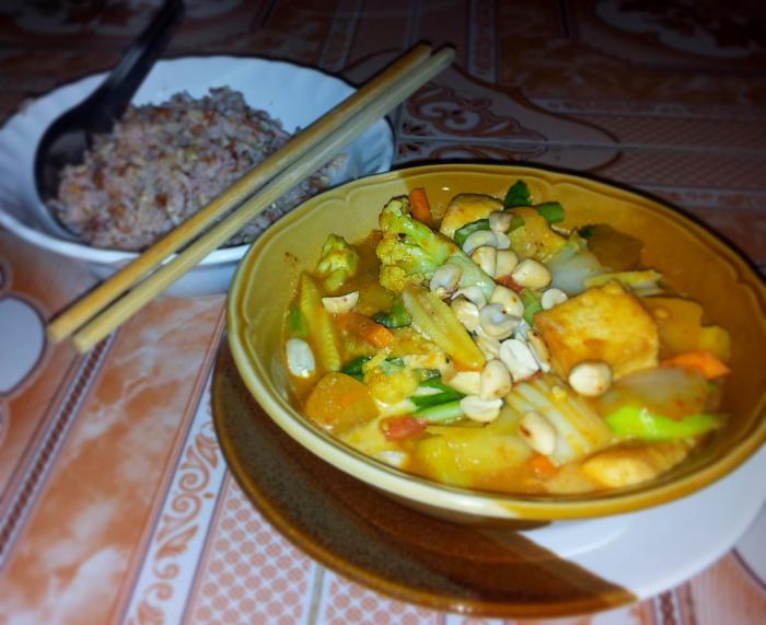 Tofu Massaman Curry in Chiang Mai, Thailand