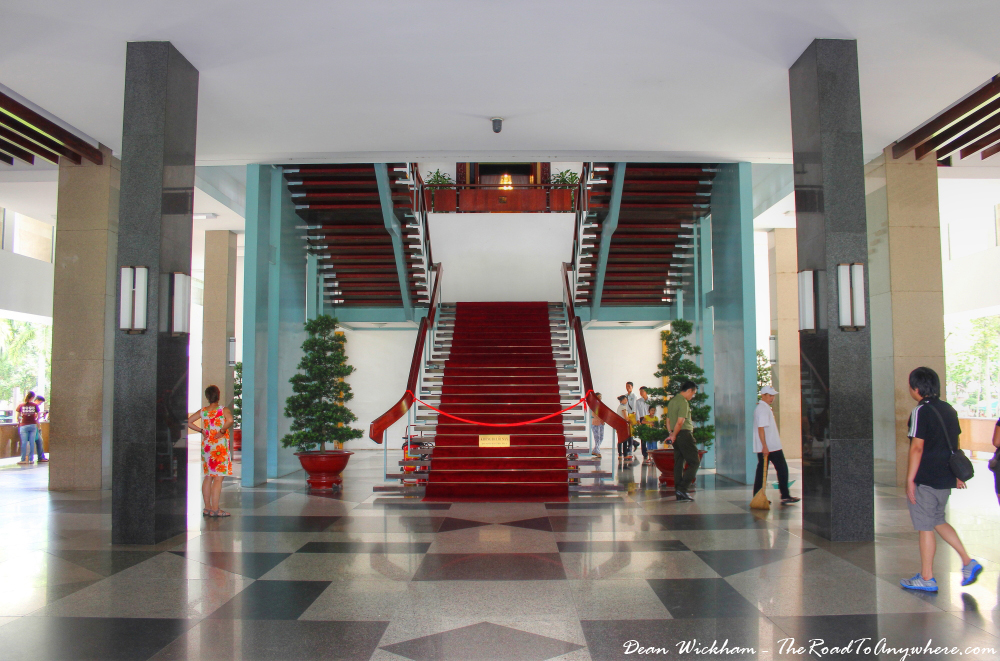 Entrance at the Reunification Palace in Saigon, Vietnam