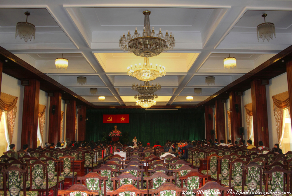 Conference Hall at the Reunification Palace in Saigon, Vietnam