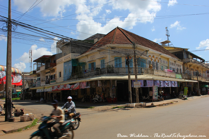 Old buildings in Kampong Cham, Cambodia