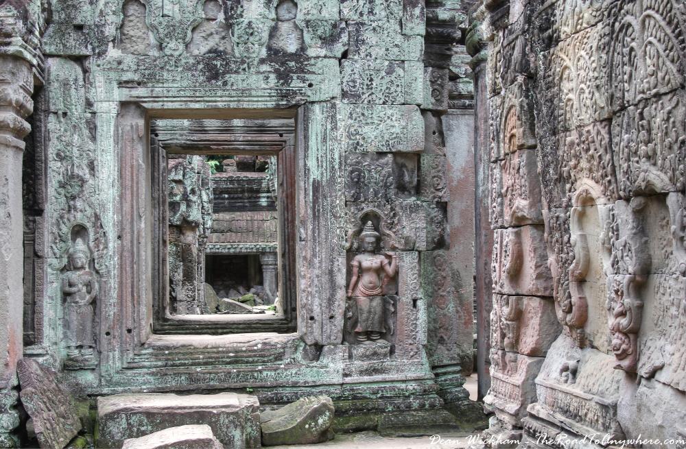 Doorway and carvings at Preah Khan in Angkor, Cambodia