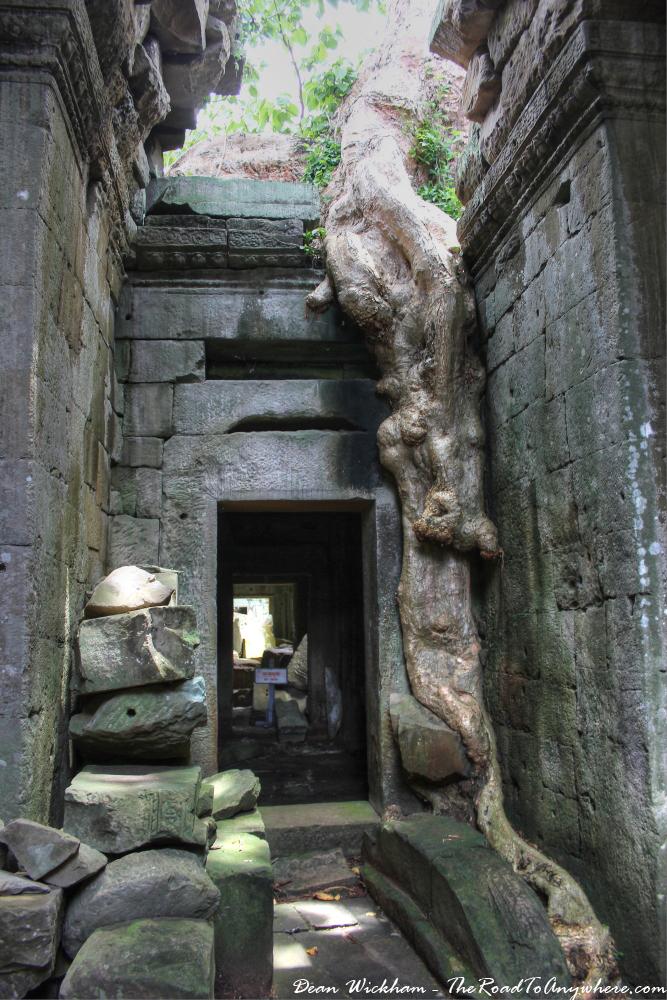 Ancient hallway at Preah Khan in Angkor, Cambodia