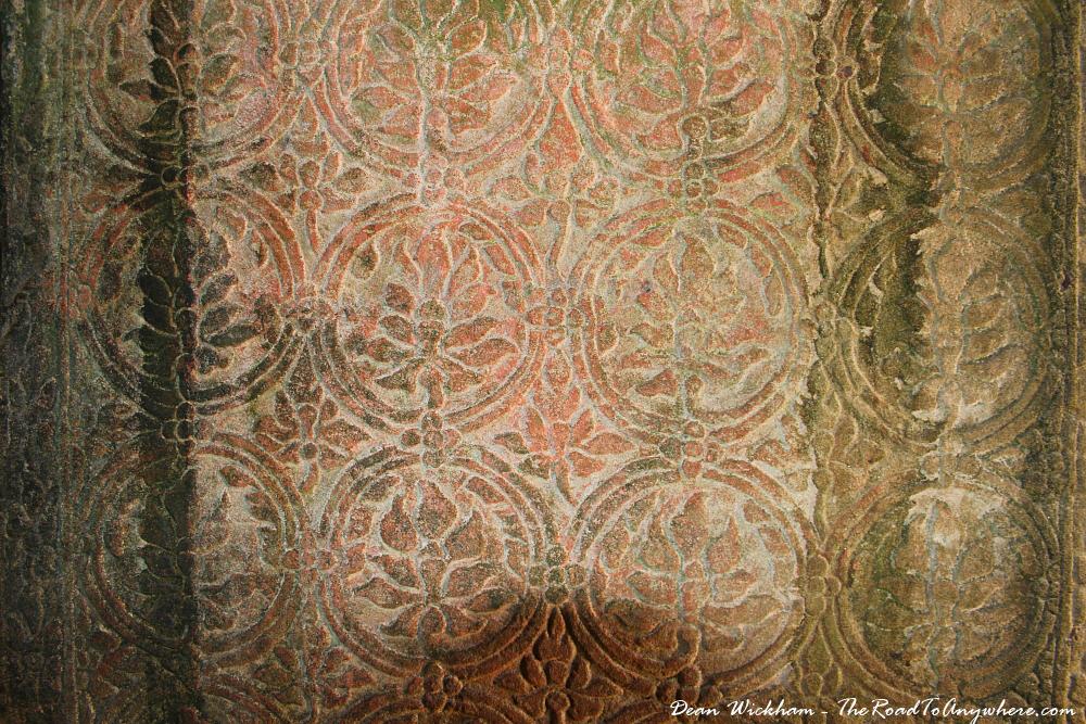 Carvings at Ta Som in Angkor, Cambodia