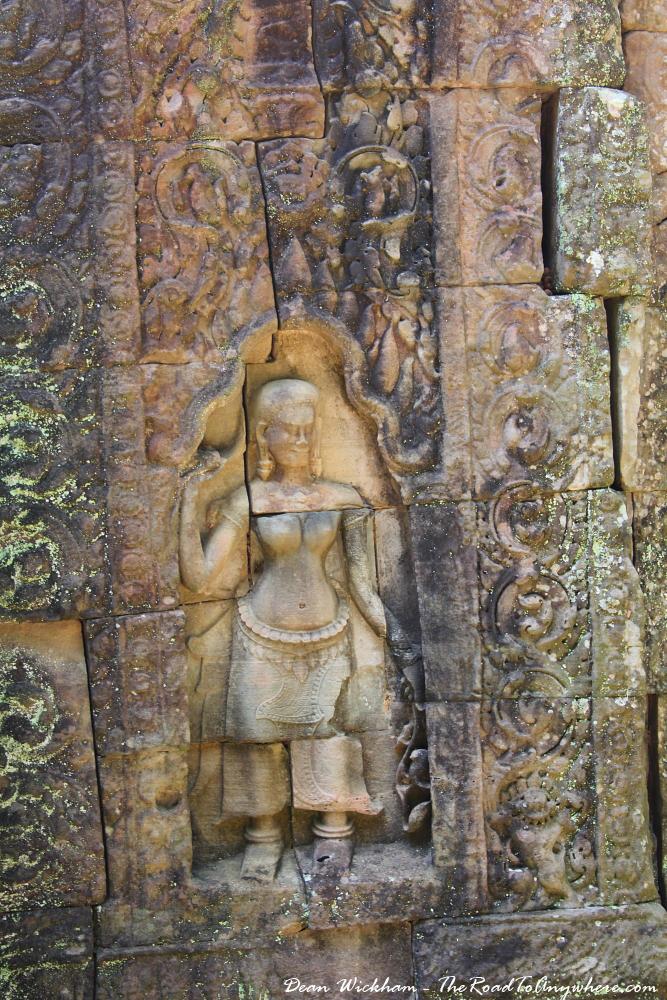 Carving at Ta Som in Angkor, Cambodia