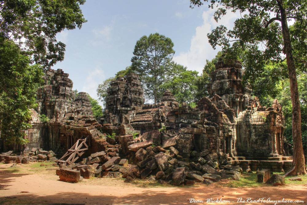 Ruins at Ta Som in Angkor, Cambodia