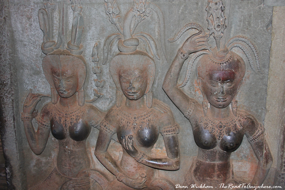 Amazing carvings inside Angkor Wat