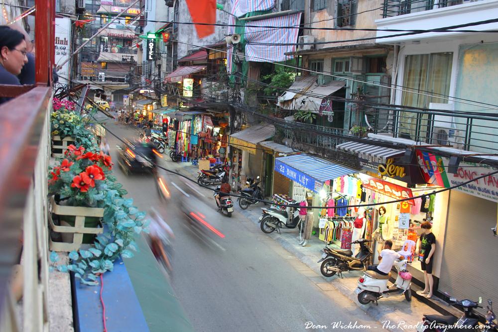 Street view in Hanoi, Vietnam